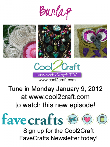 1-9-12 Cool2Craft FaveCrafts Burlap 3 up
