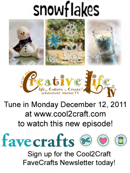 12-12-11 Snowflakes 3-up FaveCrafts - Cool2Craft
