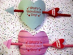 Cupids Arrow Valentines Kids Valentine Gifts and Crafts
