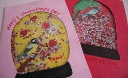 Snow Globe Valentines Cards Kids Valentine Gifts and Crafts