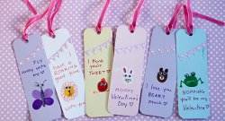Thumbprint Animal Bookmarks Kids Valentine Gifts and Crafts