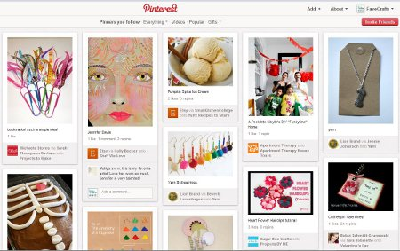 pinterest front page2 Pinning Down Pinterest