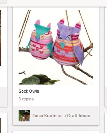 repurposed old sock owls Pinning Down Pinterest