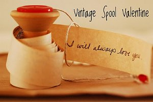 Spool Valentine 1 6 Thrifty and Cheap Valentines Day Crafts