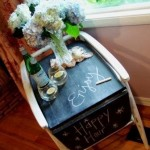 Chalkboard Party Cart