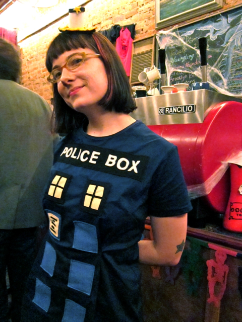 Haley in TARDIS Dress Geek Crafts: Geek Love Cross Stitch Pattern