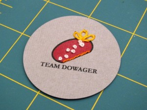 "Team Dowager Badges 04 300x225 Geek Crafts: Downton Abbey Inspired ""Team Dowager"" Badge Tutorial"