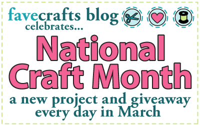 craft month banner final111 March Blog Hop: Fashionable Crafts + Giveaway!