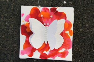 mini butterfly 14 300x200 Project of the Day and Giveaway: Mini Butterfly Crayon Canvases