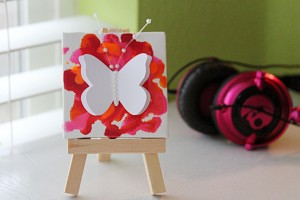mini butterfly 15 300x200 Project of the Day and Giveaway: Mini Butterfly Crayon Canvases