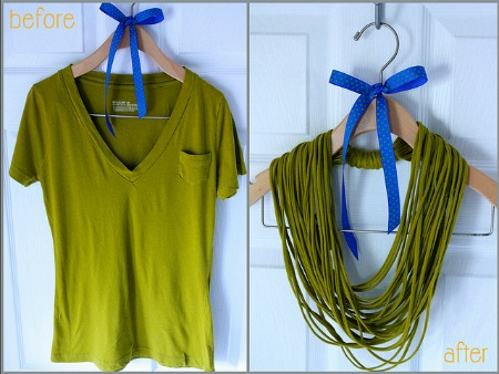 t shirt jewelry aprettypenny 450 Going Green for St. Pattys Day: 11 Recycled Crafts