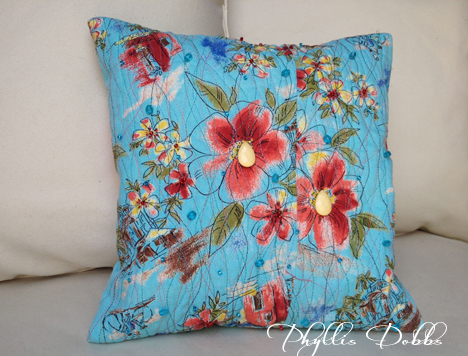 Upcycled Floral Pillow