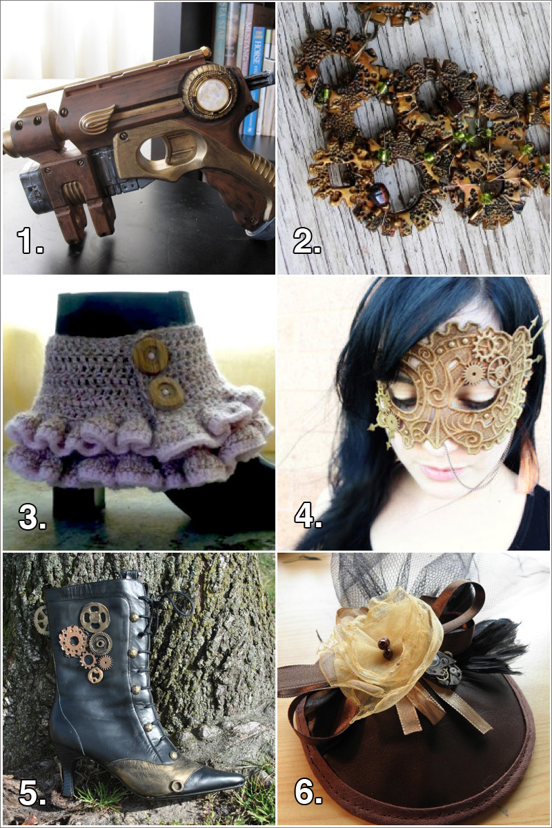 FaveCraft Steampunk Collage Final Geek Crafts: 6 Steampunk Projects from a Romantically Imagined Scientific Past