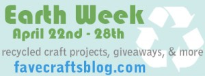 FaveCrafts Earth Week Logo 300x112 Get Green with Eco Green Crafts Plus a Giveaway!