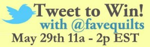 FaveQuilts Twitter Contest