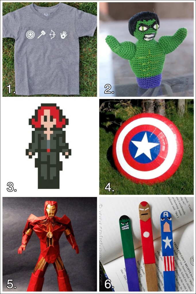 avengers crafts grid 682x1024 Geek Crafts: Avengers Superhero Craft Roundup