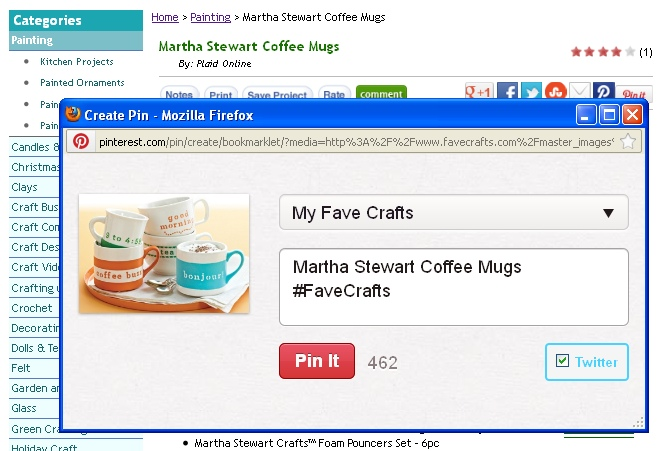 pinning 3 Announcing: Pinning and Winning with FaveCrafts