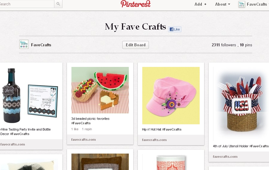 pinning 5 Announcing: Pinning and Winning with FaveCrafts