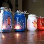 Patriotic Painted Luminaries Tutorial