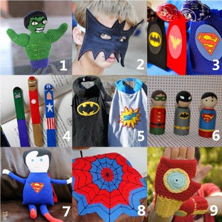 superman crafts Link Love:  Superhero Crafts