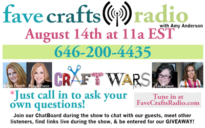 FaveCrafts Radio August Flyer with Bios 400px August FaveCrafts Radio is Coming up!