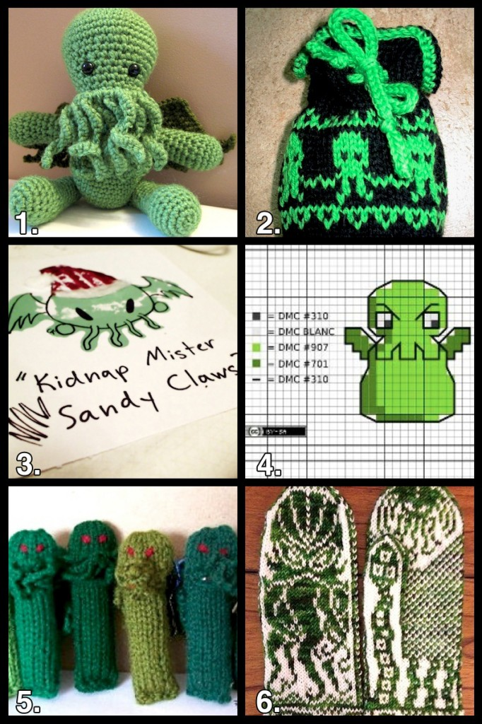 cthulhu craft grid 682x1024 Geek Crafts: Cthulhu Craft Roundup