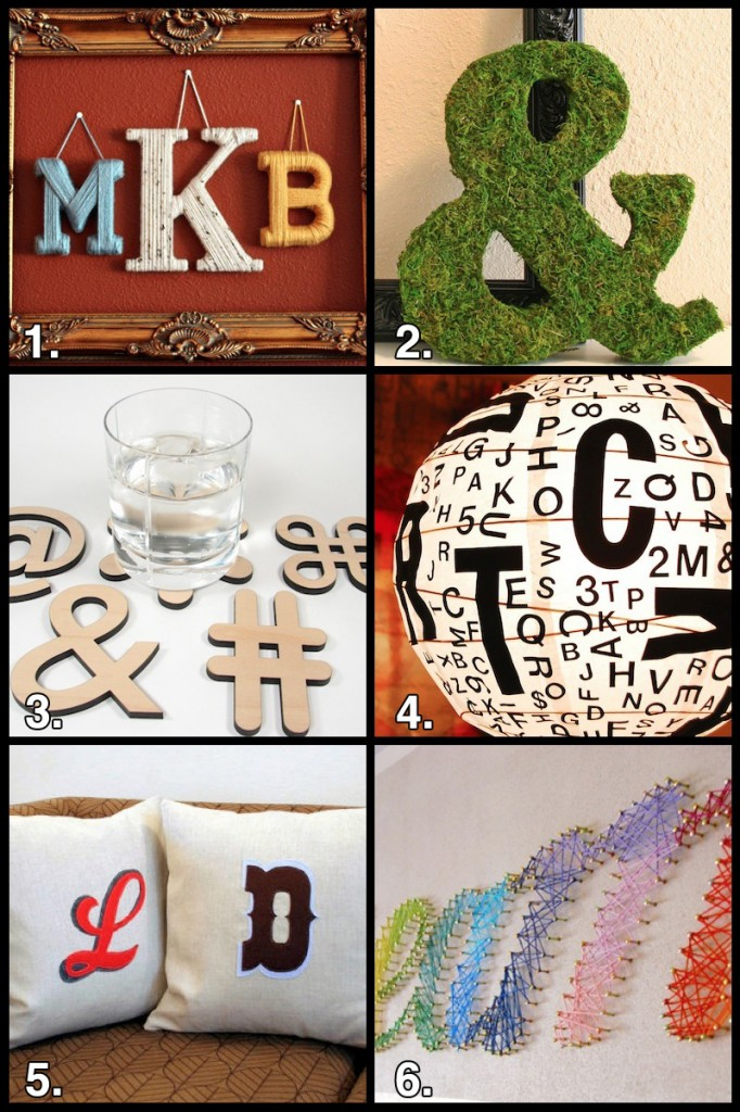 typography craft grid 682x1024 Geek Crafts: Typography Crafts Roundup