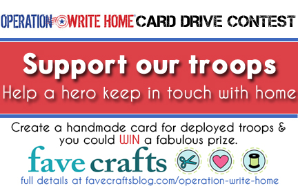 Operation Write Home Card Drive FaveCrafts Operation Write Home Charity Winners Announced!