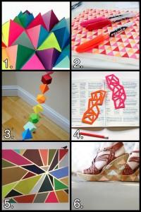 geometry craft grid 200x300 Geek Crafts: Geometric Craft Roundup