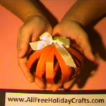 Pumpkin with Paper Strips Tutorial