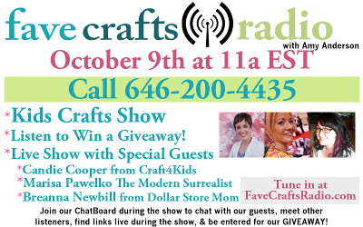 FaveCrafts Radio October Flyer with Bios 400px October FaveCrafts Radio: Lets Talk Kids Crafts!