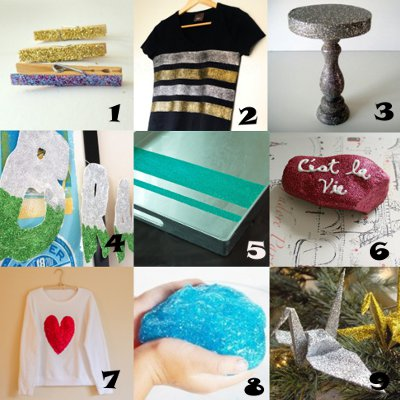 link love glitter Link Love: Glitter Crafts