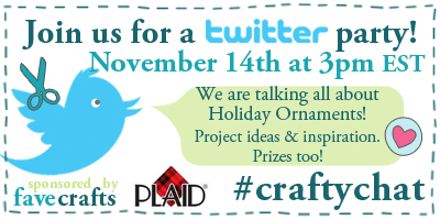 Craft Twitter Party 400px Plaid Ornaments FaveCrafts Holiday Twitter Party!