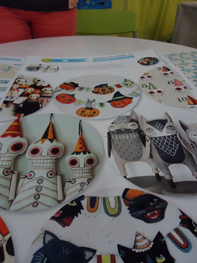 A sneak peek at the Halloween 2012 line from Cloud9 Fabrics