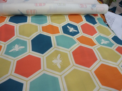 Honeycomb Multi print from the Grove Cottons collection from Birch Fabrics