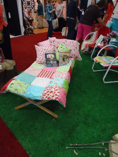Cot quilt in the Moda Fabrics booth