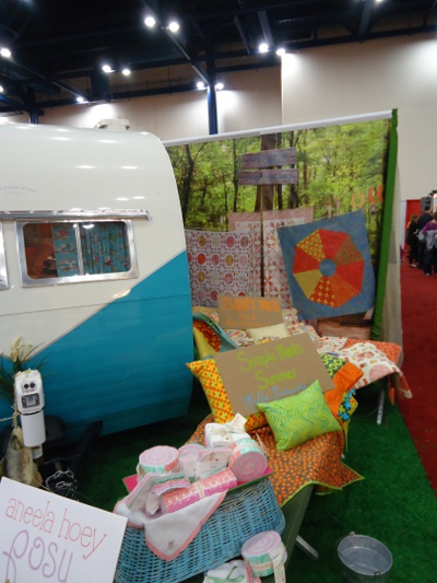 Glamping display in the Moda Fabrics booth