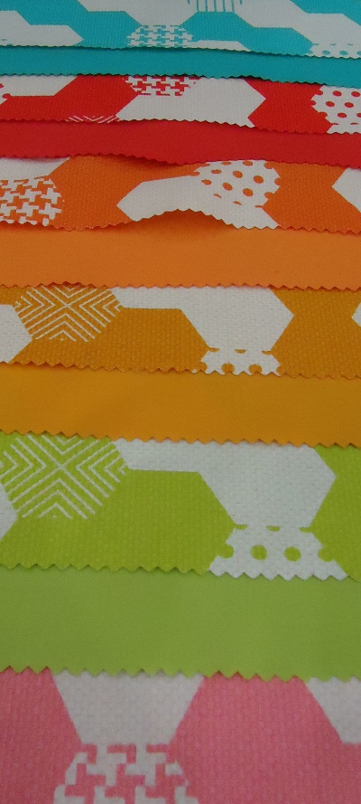 Hexies from the Textured Basics collection by Patty Young for Michael Miller Fabrics