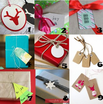 link love gift tags Link Love: Homemade Gift Tags