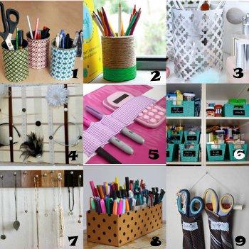 link love organization Link Love: Crafty Organization Ideas