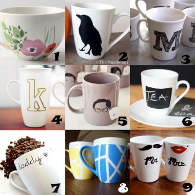 mug crafts Link Love: Decorated Mugs