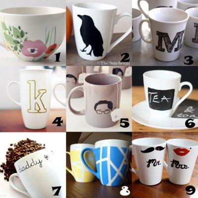 mug crafts Link Love: Decorated Mugs