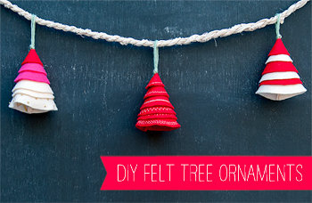 1 diy felt tree ornaments 4 Super Last Minute DIY Christmas Gifts
