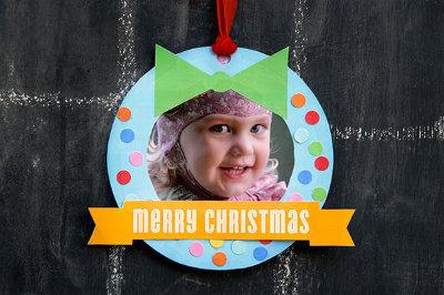 2 printable wreath1 8 Christmas Crafts For Kids To Make