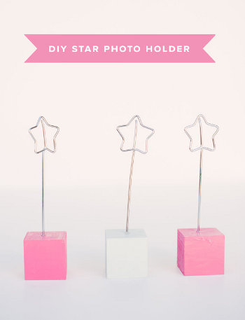 5 diy star photo holder 4 Super Last Minute DIY Christmas Gifts