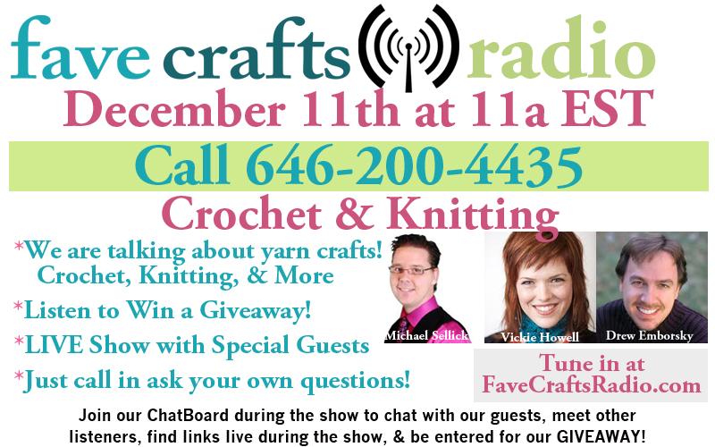 FaveCrafts Radio December Flyer with Bios 400px December FaveCrafts Radio: Yarn Talk!