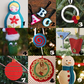 link love felt ornament Link Love: Felt Christmas Ornaments