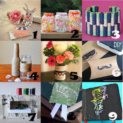 link love recycle crafts1 Link Love: Go Green in 2013