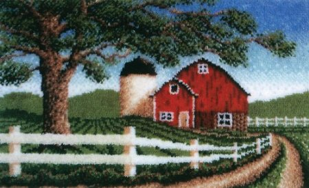 Wonderart Country Barn Latch Hook Kit