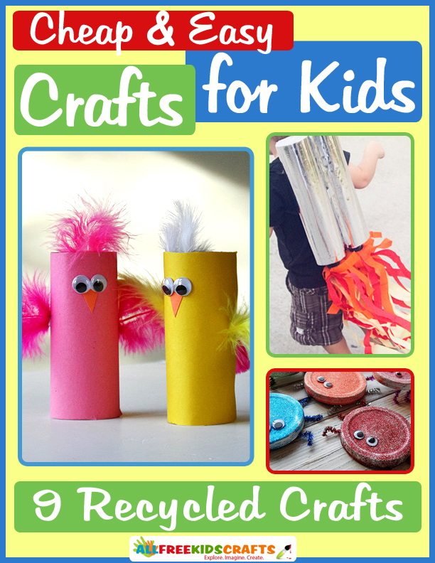Cover Green Craft With Kids of All Ages in the Cheap and Easy Crafts for Kids: 9 Recycled Crafts eBook